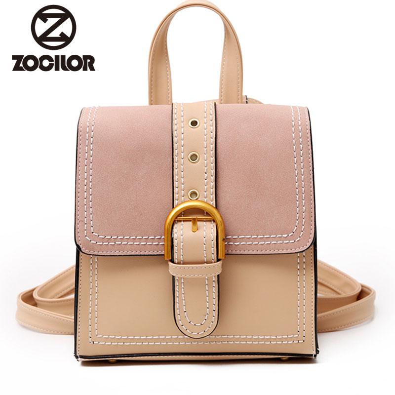 2018 Fashion high quality small women backpack Pu Leather Backpack Women Bag School Backpacks For Teenage Girls backpack high quality pu leather women backpack