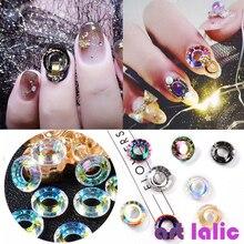 5Pcs Angel Ring Crystal Rhinestones Chameleon Colorful Diamonds Mermaid  Aurora 3D Glass Decorations Glitter Manicure Accessories ca9c3a8b5b72