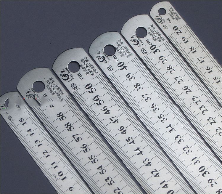 Steel Ruler Thicker  Drafting Supplies Hardware Tools Ruler Double Faced For Office And School Kawaii