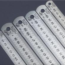Стальная линейка толще чертёжные принадлежности аппаратные инструменты линейка двусторонняя для офиса и школы kawaii