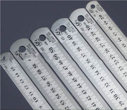 Стальная линейка толстые редакционные принадлежности аппаратные средства линейка двусторонняя для офиса и школы kawaii