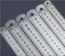 الصلب حاكم سمكا صياغة لوازم معدات الكمبيوتر حاكم مزدوج الوجه للمكتب والمدرسة kawaii