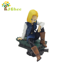 J Ghee Dragon Ball Z Deluxue Figure Part 3 Gals Android NO.18 Decoration  PVC Figure Collectible Model Toy 10-15Cm