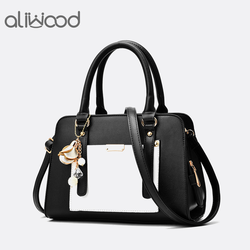 Aliwood Panelled Patchwork Women bag Tote Europe Fashion Crossbody Bags Women's handbags Shoulder Messenger Bags with Chain rose 2017 new arrival women handbags fashion ladies shoulder panelled messenger patchwork crossbody bags casual tote rivet hobos bag