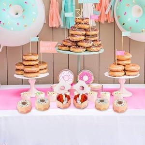Image 3 - Ourwarm 10 個六角ドーナツパーティー紙ベビーシャワーギフトボックスドーナツテーマ誕生日パーティーの装飾好意