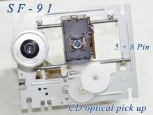 5 pçs/lote SF 91/sf91 (5pin + 8pin) com mechamism SF 91 dupla fileira plug cd player lente laser sf 91