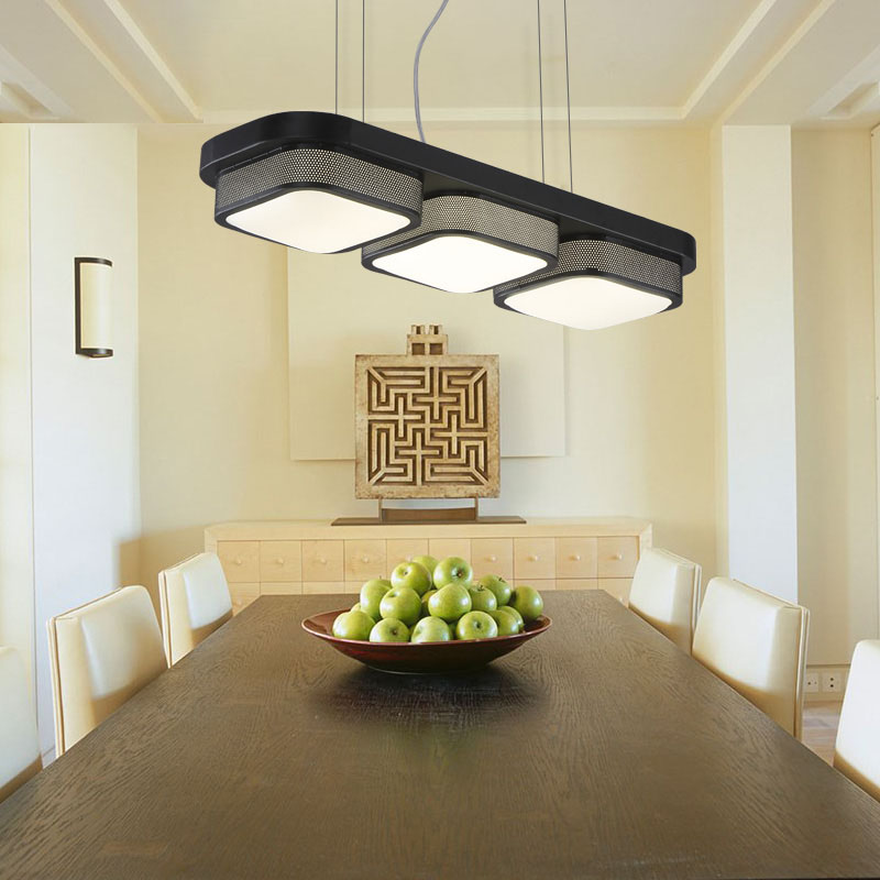 T Modern LED Dining Room Pendant Lamps Simple Black Creative Home Lighting For Study Room Bedroom Living Room Dhl Free