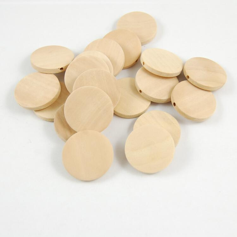 Wholesale 30-5pcs/lot DIY Natural Wooden Round Dish Wooden Beads for Kids Toy Necklace Bracelet Jewelry Making 15-40MM