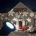 Las Lámparas Del Proyector Láser En Movimiento a prueba de Nieve Copo de Nieve Luz de la Etapa De Navidad Fiesta de año Nuevo de Luz Del Jardín de La Lámpara Al Aire Libre