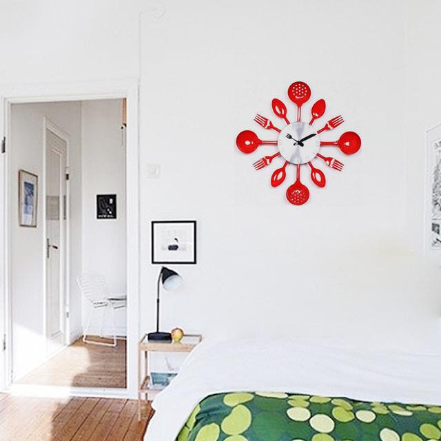 2017 real metal wall clock knife kitchen the decoration quartz mute modern separates Needle clocks watch home