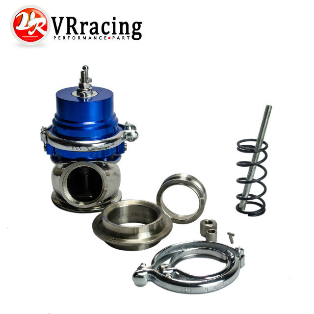 VR RACING - BLUE 50mm Adjustable series Wastegate 50mm with Spring : VR5801B Turbo wastegate 50mm high quality 50mm