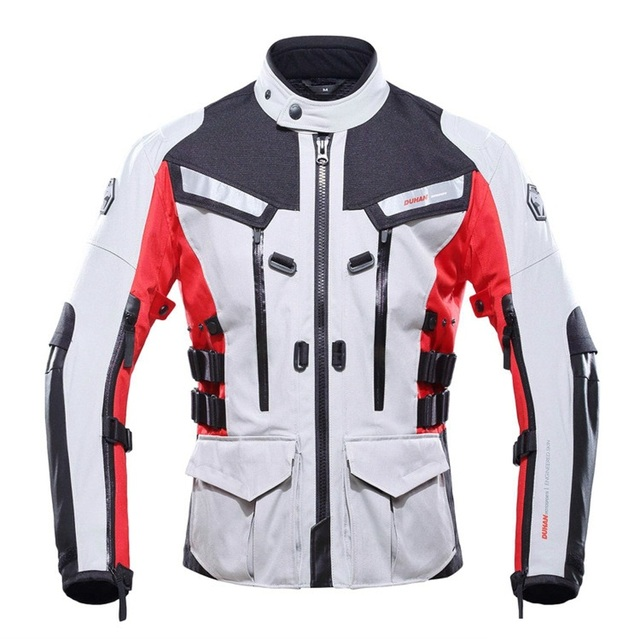 Free shipping 1pcs Mens Windproof Waterproof Thermal Motorcycle Biker Jacket with 5pcs pads