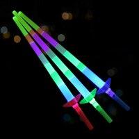 5 pcs/Frete Grátis Quatro atividades telescópicos varas concerto adereços barra de luz vara vara noctilucentes luminosa eletrônico brinquedo