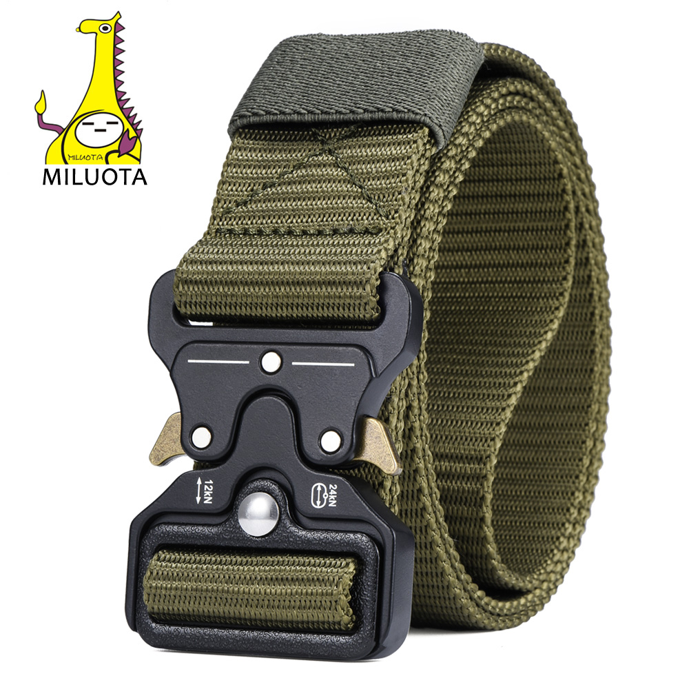 MILUOTA Mens Tactical Belt Military Nylon Belt Outdoor multifunctional Training Belt Combat Belts Sturdy Waistband MU055