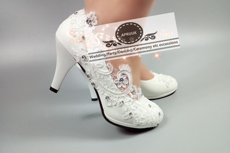 Size Heel Pizzo Partito Alti Da Nuziale Lady 11cm Heel Hs320 White Piattaforme Sposa 41 Donna Pattini Scarpa Heel Pompa Plus Scarpe 42 5cm Tacchi I Cristallo 8cm Lace qYdwgRCxd