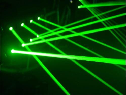 X15-G640 professionnel 8 pièces vert G532-80mW couleur mini disco laser araignée scène fête club KTV mariage studio éclairage DMX 512