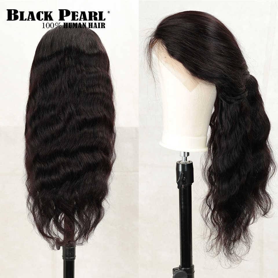 От Black Pearl, 150% Синтетические волосы на кружеве человеческих волос парики 13X4 предварительно вырезанные Реми бразильские волнистые волосы Синтетические волосы на кружеве al парики для чернокожих Для женщин