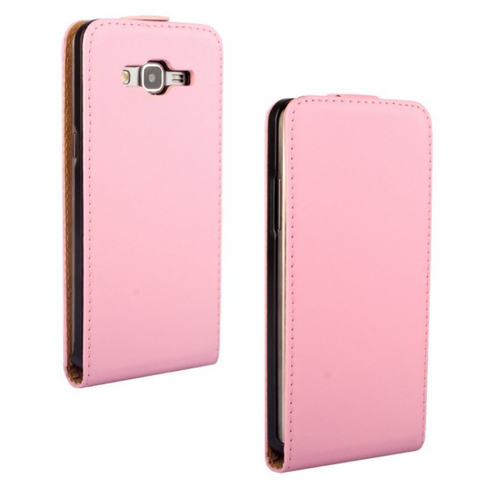 cheap for discount 9508a db1c2 US $8.09 10% OFF 1PCS Fashion Pink Color Genuine Leather Flip Vertical Skin  Pouch Cover for Samsung Galaxy Grand Prime G530H Cellphone Bags-in Flip ...