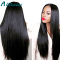 100g Human Hair Unprocessed Peruvian Virgin Hair Straight Weave 4 bundles lot #1B Soft Pervian Hair Weft Forawme Hair Products