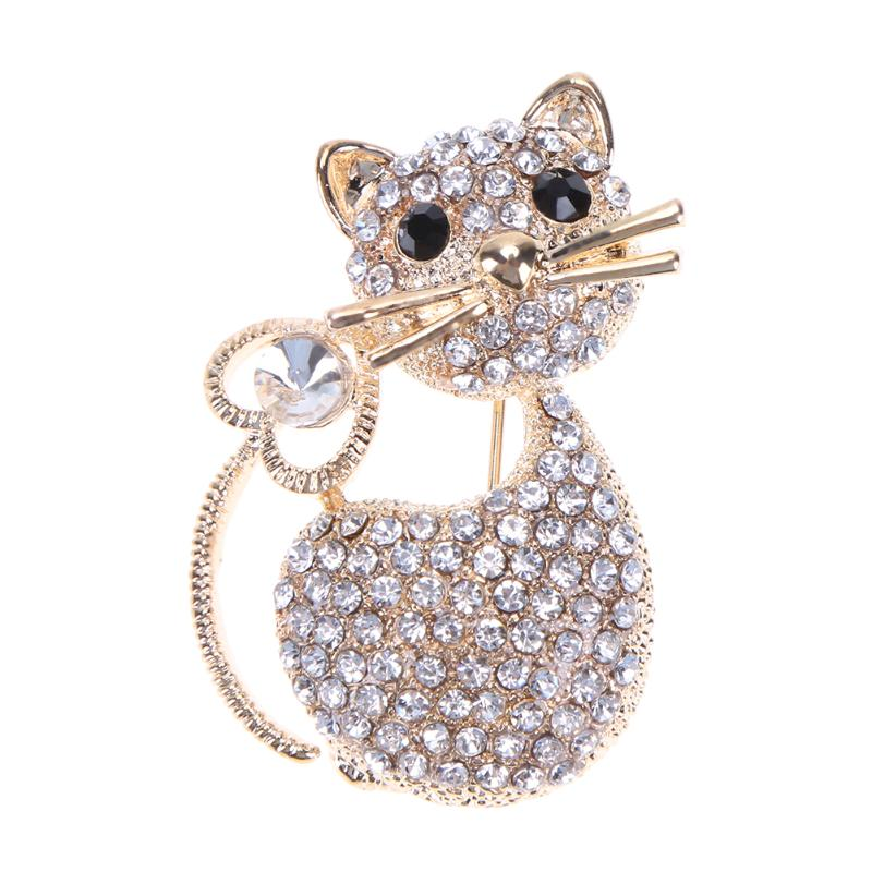 Dedicated New High Quality Butterfly Brooch Pin Crystal Rhinestone Beautiful Broches Bijou For Women Dress Wedding Christmas Gifts Bridal Jewelry Sets & More