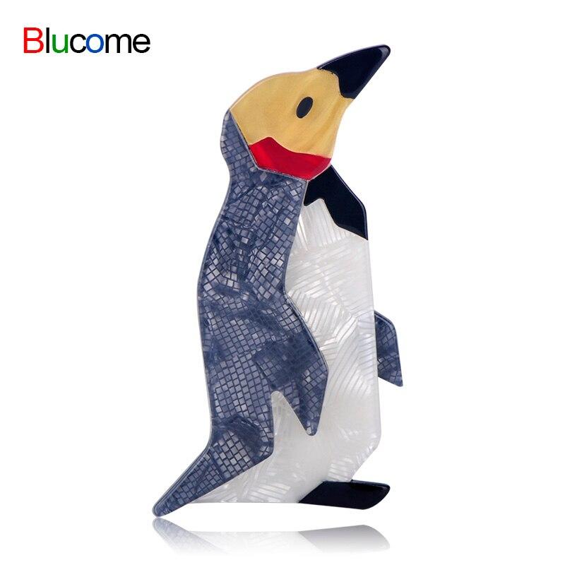 Luxury New Fashion Penguin Shape Big Brooch Acrylic Animal C