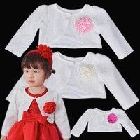 Baby Girl Clothing Lace Coat Princess Shrug Short Cardigan Infant Bolero Jackets Outerwear Wedding Party Dress Shawl Cape Naist