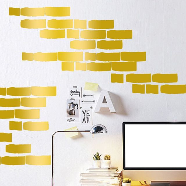 DIY Brick Pattern Children\'s Living Room Wall Stickers Bedroom Decor ...