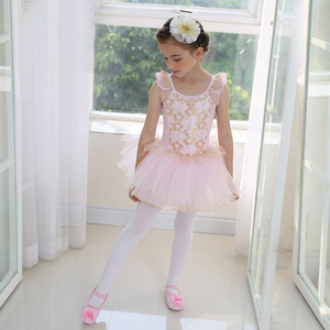 Image 3 - White Swan Lake Ballet Costume Short Sleeve Ballerina Clothes Children Kids Tutu Ballet Dress Lace Ballet Dancewear For Girls