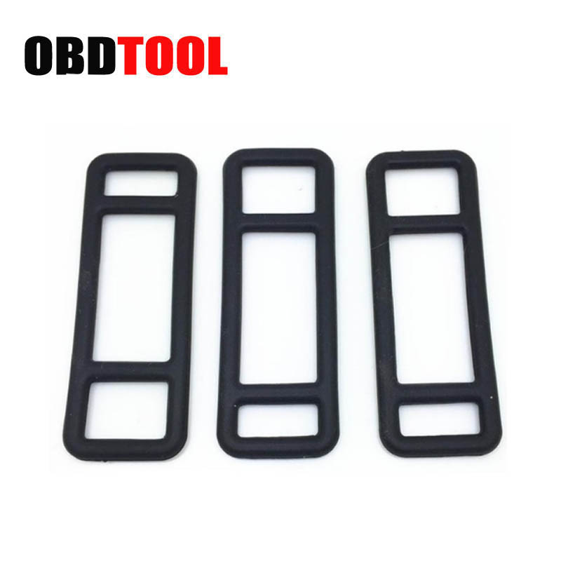 ObdTooL 10pcs Car Rearview Mirror Tachograph Fix Bandage Strip Silicon Rubber Belt Buckle Bracket Soft Rubber Band For DVR JC20