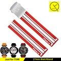 Pulseira de silicone bandas de borracha para tissot t048 t-corrida t-relógios desportivos substituir relógio de pulso banda pulseira de relógio esportivo t048.417 + ferramenta