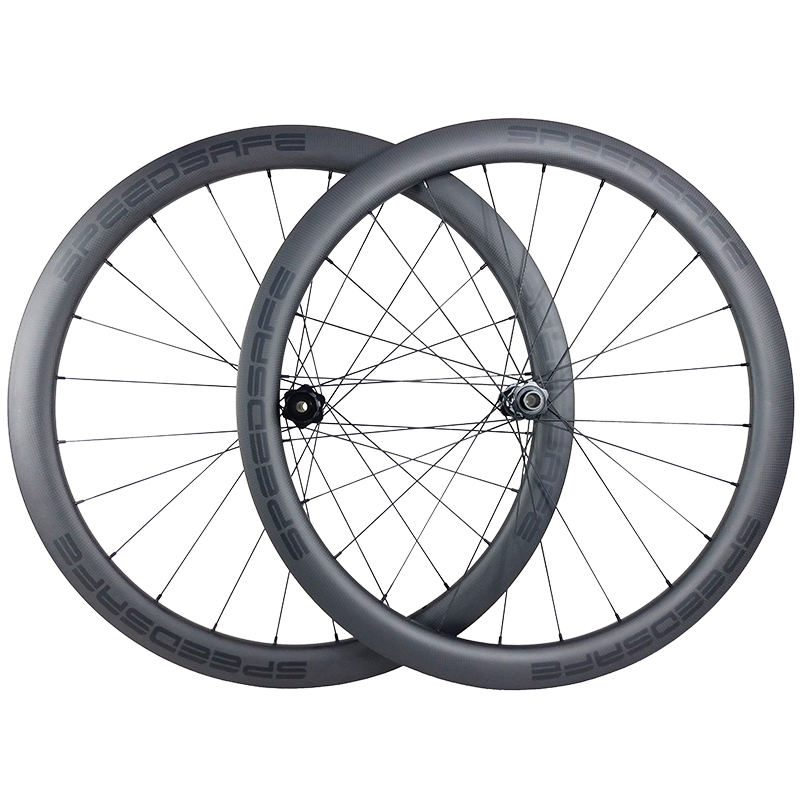 Gravel 650B road disc 45mm clincher carbon wheels 28mm width tubeless 350S center lock HIGH TYRE