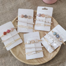 Women Barrettes Set Pearl Hair Clip Pins Oranment Gold Bobby Pin Hair Accessories Mujer Headwear Wedding for Girl Gift(China)