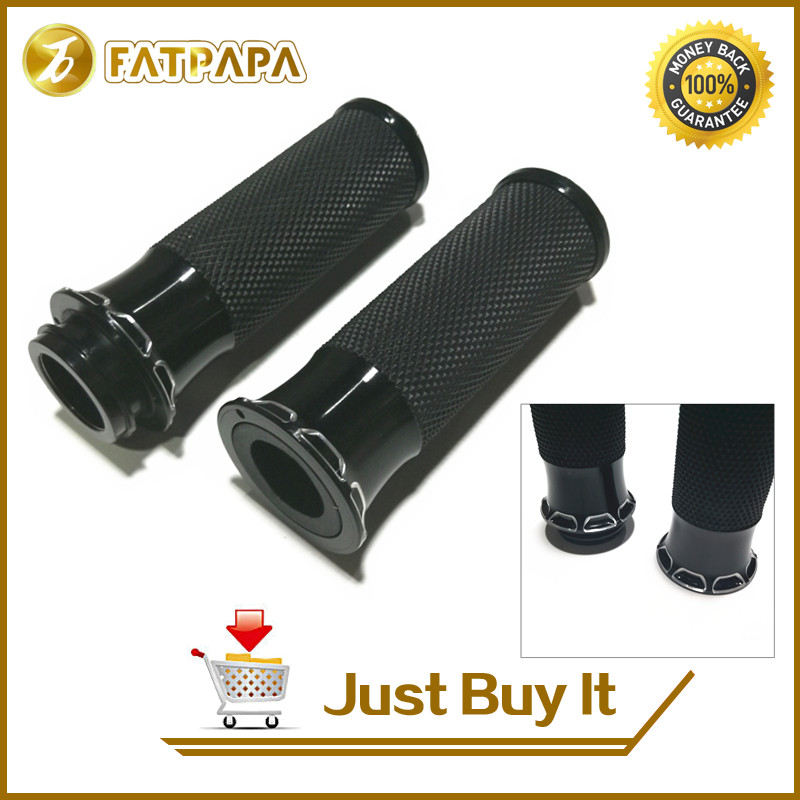 Motorcyle Handle Black CNC 125mm Handlebar Hand Grips Fit For Harley Sportster Touring Dyna Softail Custom