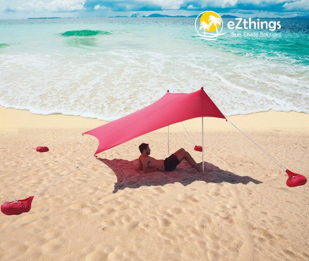 HOT Sea Beach CampingTent bâche parasol gonflable abri auvent sable ancre sac de transport auvent pluie protéger Portable 2 pôles - 3