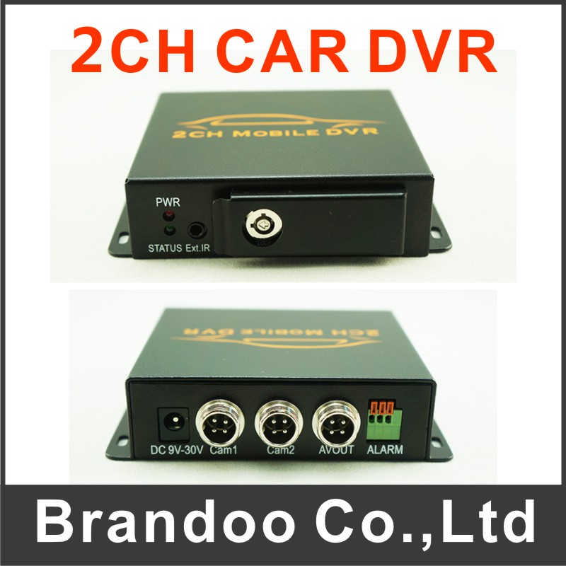 ФОТО Free shipping 2CH CAR DVR for taxi,bus,trainning car used, auto recording, DIY installation