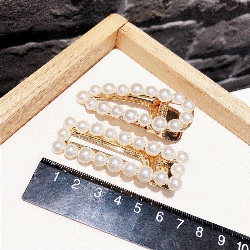1Pcs Fashion Women Girl Korean Fashion pearls Barrette Hairpins Clips Butterfly Headwear Hair Band Hair Accessories in Women 39 s Hair Accessories from Apparel Accessories