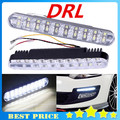 Free Shipping Super White 30 LED Car Daytime Running Light DRL Daylight Lamp with Turn Lights Auto Parking Driving Lamp