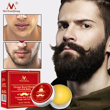 MeiYanQiong Orange Plant Dense Tough Beard Care Cream Moisturizing Luster Smooth Promote Growth Lubrication Cream 30g 1