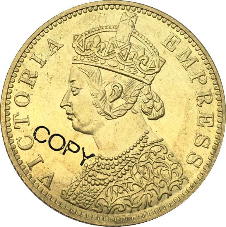 New Products East British India Gold Coin Victoria Empress 1879 Ten 10 Rupees Brass Metal Copy Coin|Non-currency Coins| - AliExpress