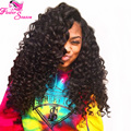 180 Density Virgin Malaysian Curly Wig Unprocessed Full Lace Human Hair Curly Wigs With Baby Hair Natural Hairline