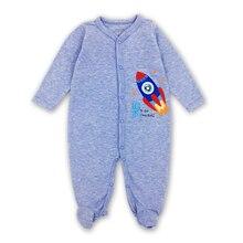 Купить с кэшбэком Baby rompers Newborn Baby Girls Boys Clothes 100% Cotton Long Sleeves Baby Pajamas Cartoon Printed Baby's Sets