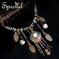 Especial nueva moda collar llamativo Natural Opal Maxi collar del esmalte de oro colgantes de los collares para mujeres XL151015
