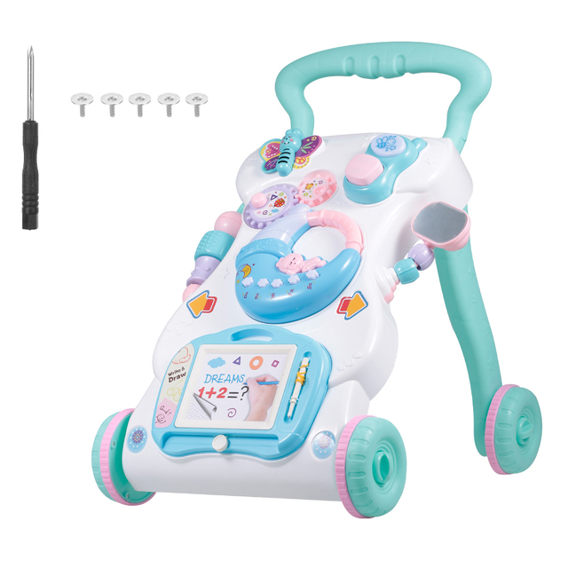 NEW Baby Walker Multifuctional Toddler Walker Sit-to-Stand Learning Walker Toys Activity Walker Birthday gift Toys for Baby Kids 1