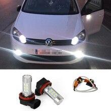 2X H8 H11 светодиодный-Туманная осветительная дорожная лампа + Canbus декодеры нет ошибок для VW Volkswagen Tiguan 2013-2014