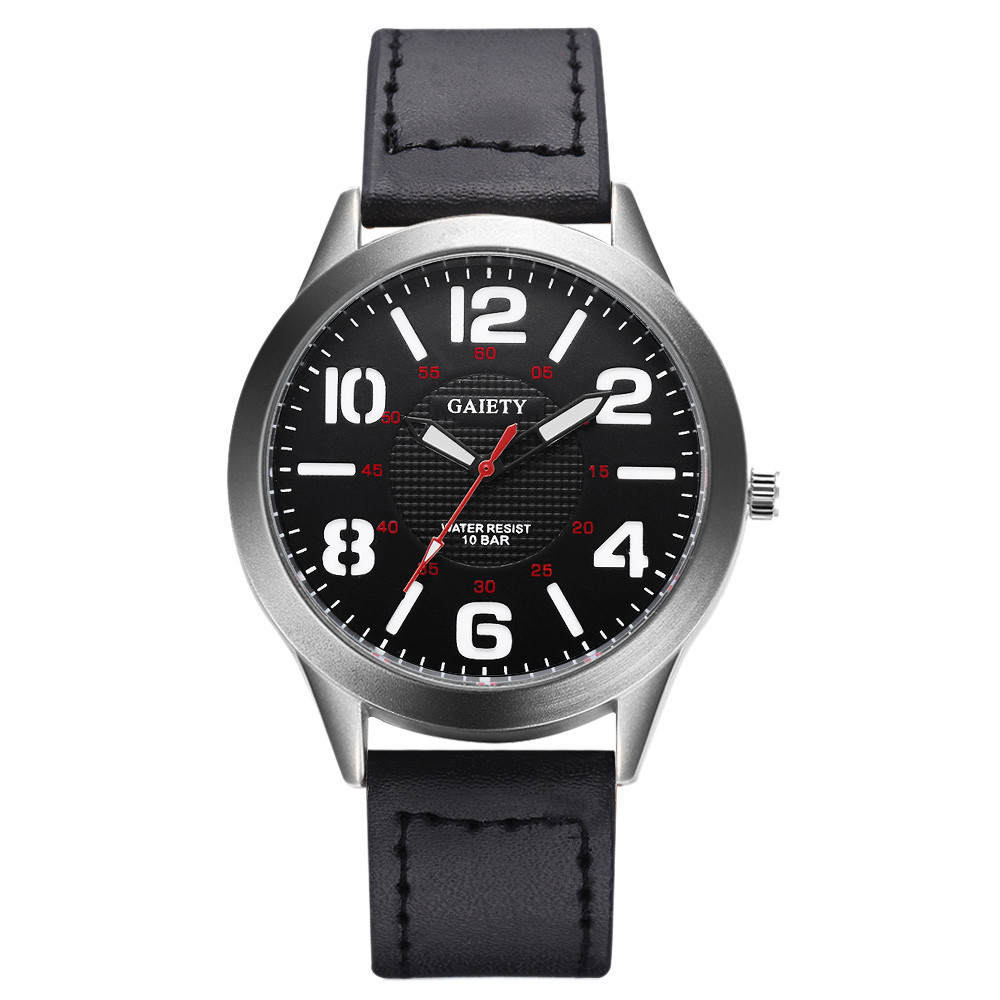 Men's Sport Watches Male's Clock Casual Fashion Movement Quartz Wristwatches Leather Band Strap Belt Table Watches Relogio
