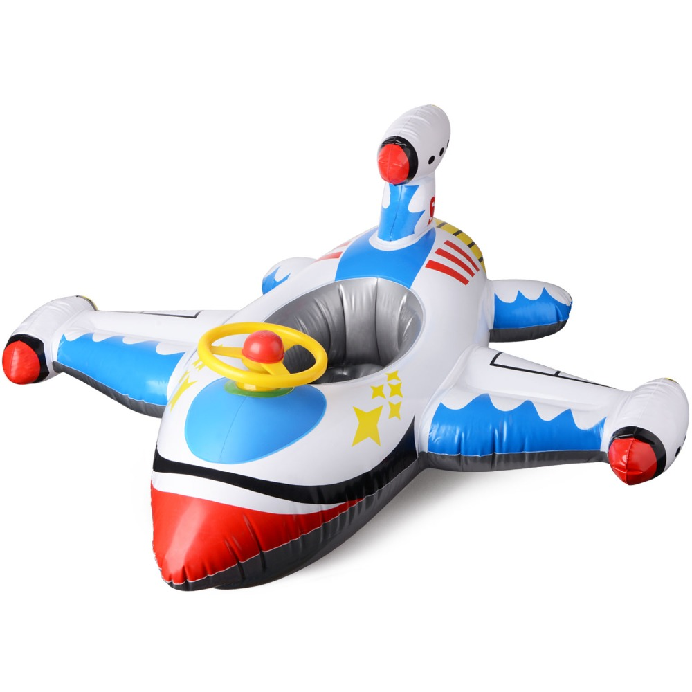 US $13.98 20% OFF|Kids Ride on Giant Inflatable Plane Ride Inflatable  Aircraft Kids Swimming Pool Float Raft Pool Rafts Summer Water Sports  Toy-in ...