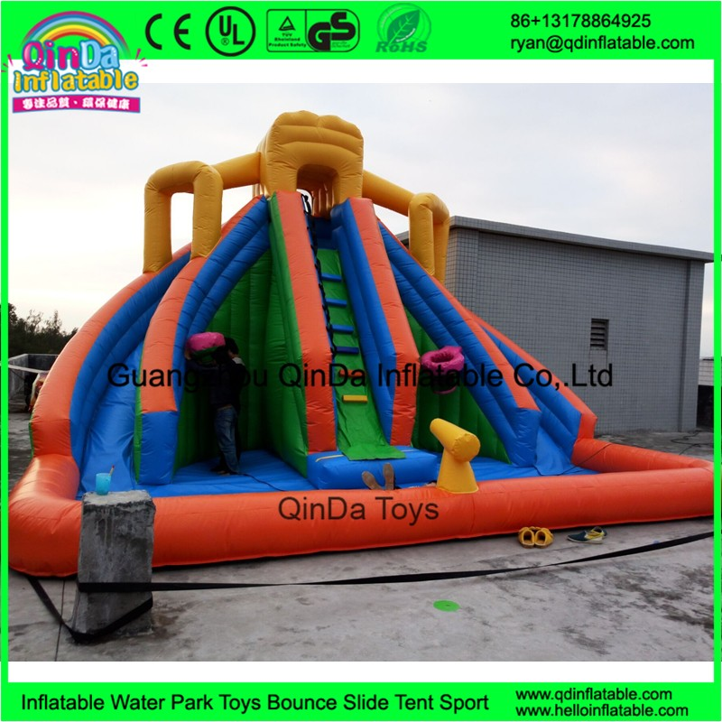 1 inflatable water slides with pool for kids9