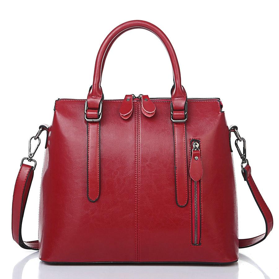 Conscientious New Oil Wax Leather Retro Style Handbag Luxury Handbags Women Bags Designer Mochilas Mujer 2018 Shoulder Bag Ladies Hand Bags Women's Bags Luggage & Bags