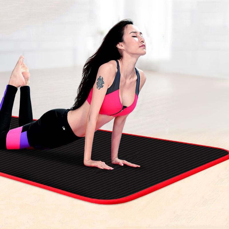 Edge Covered Non Slip Yoga Mat 10mm Sports Yoga Mat For