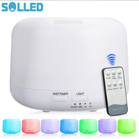 SOLLED 300ML Ultrasonic Noiseless Remote Control Humidifier Aroma Diffuser Colourful LED Night Light